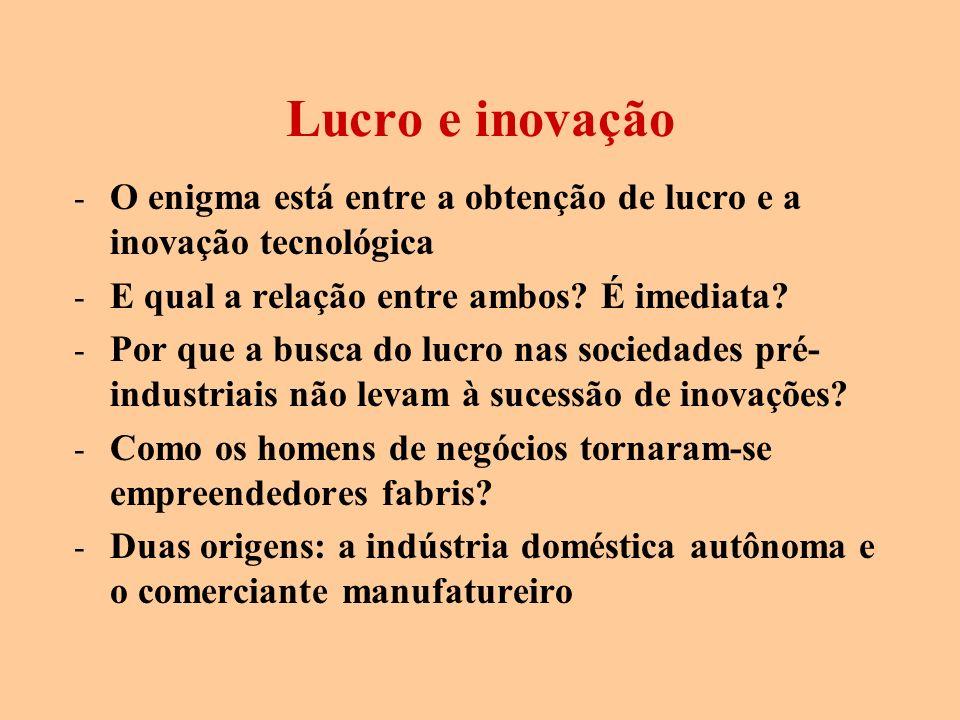 Lucro e inovação O enigma está entre a obtenção de lucro e a inovação tecnológica. E qual a relação entre ambos É imediata