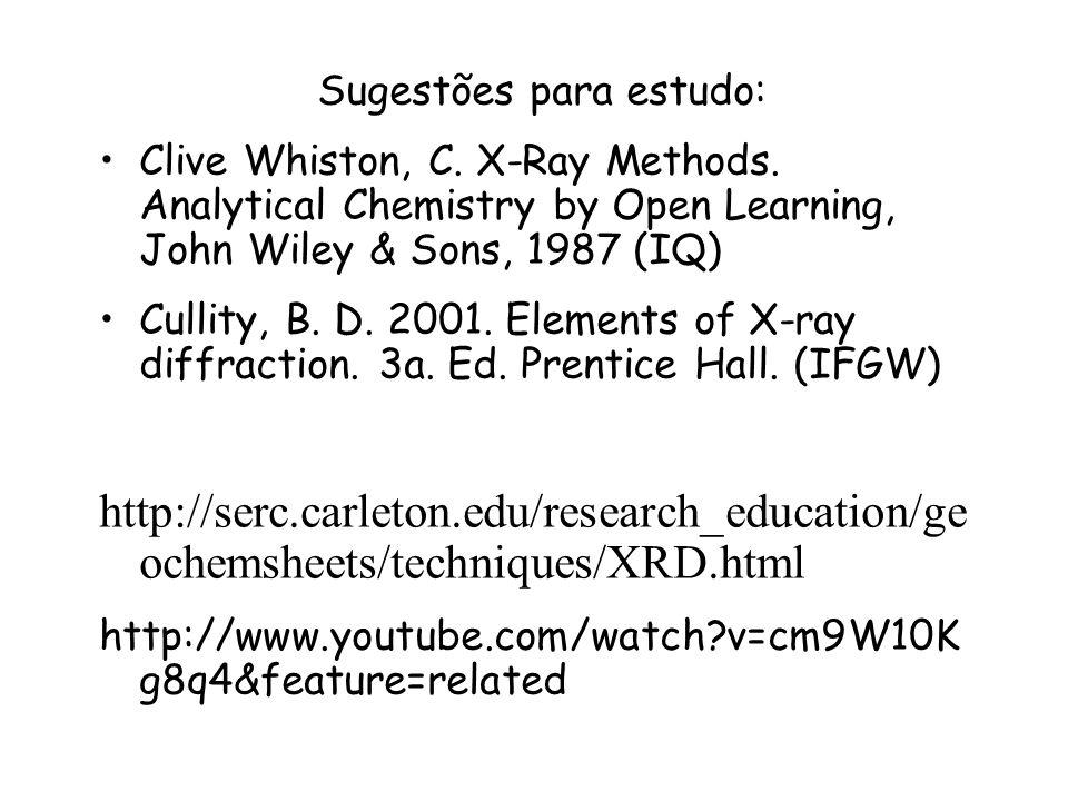 Sugestões para estudo: