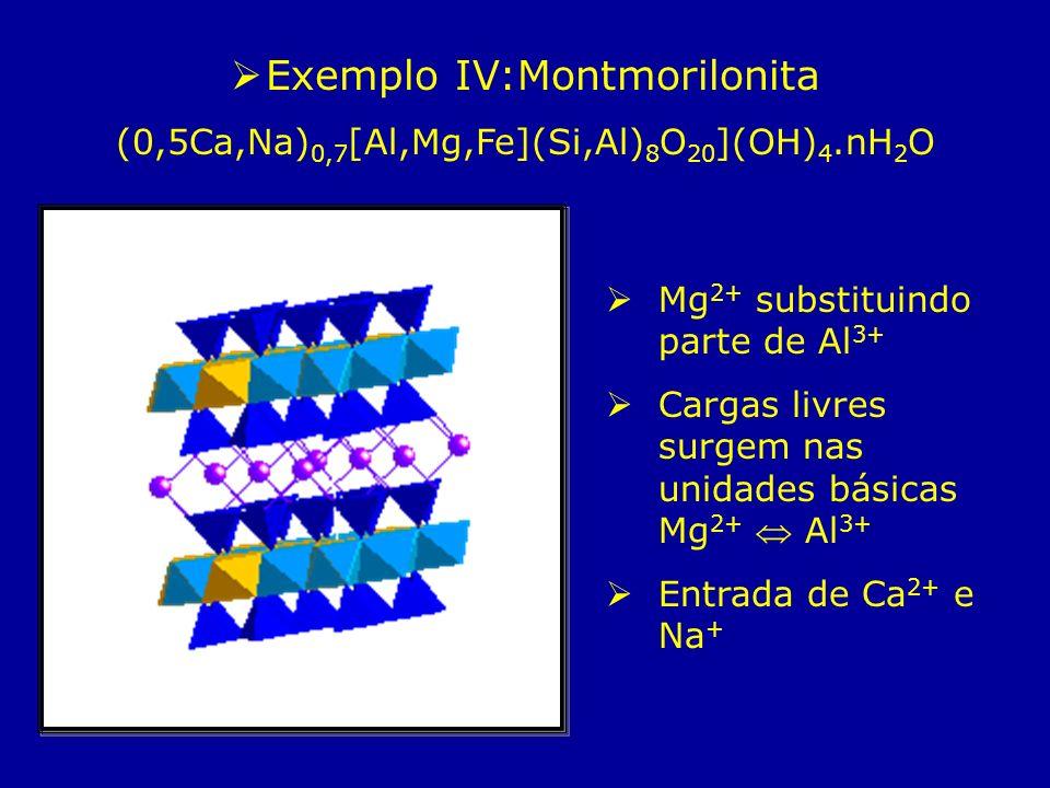 Exemplo IV:Montmorilonita