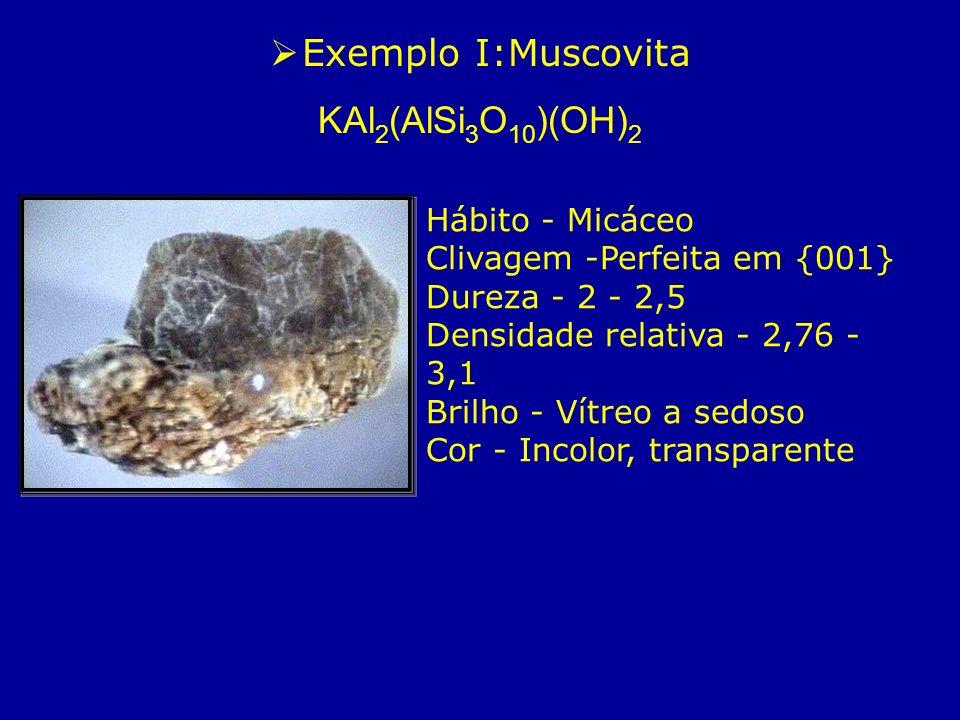 Exemplo I:Muscovita KAl2(AlSi3O10)(OH)2