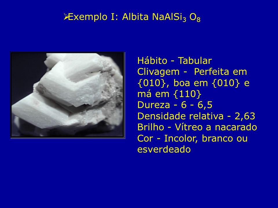 Exemplo I: Albita NaAlSi3 O8