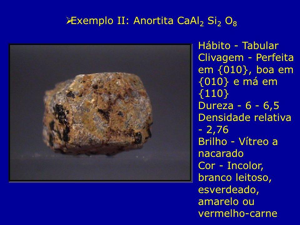 Exemplo II: Anortita CaAl2 Si2 O8
