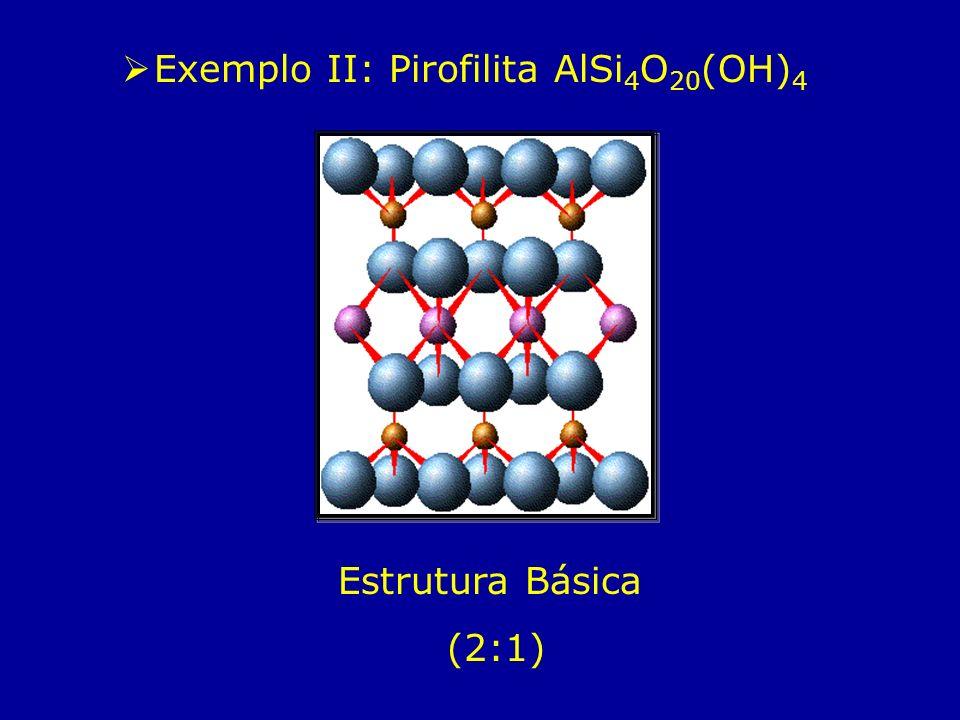 Exemplo II: Pirofilita AlSi4O20(OH)4