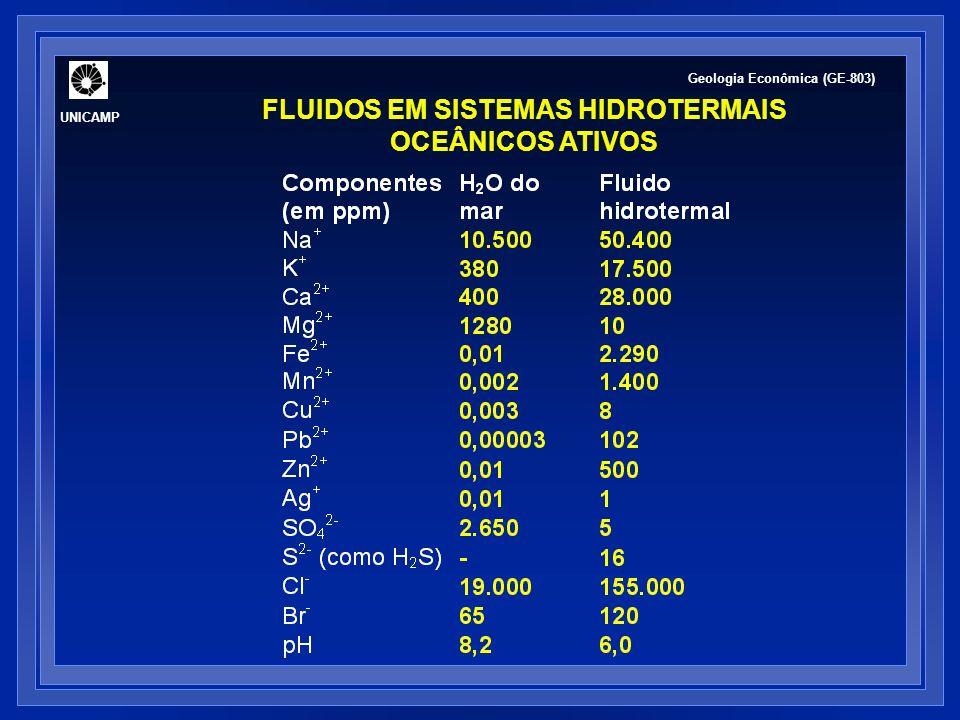 FLUIDOS EM SISTEMAS HIDROTERMAIS OCEÂNICOS ATIVOS