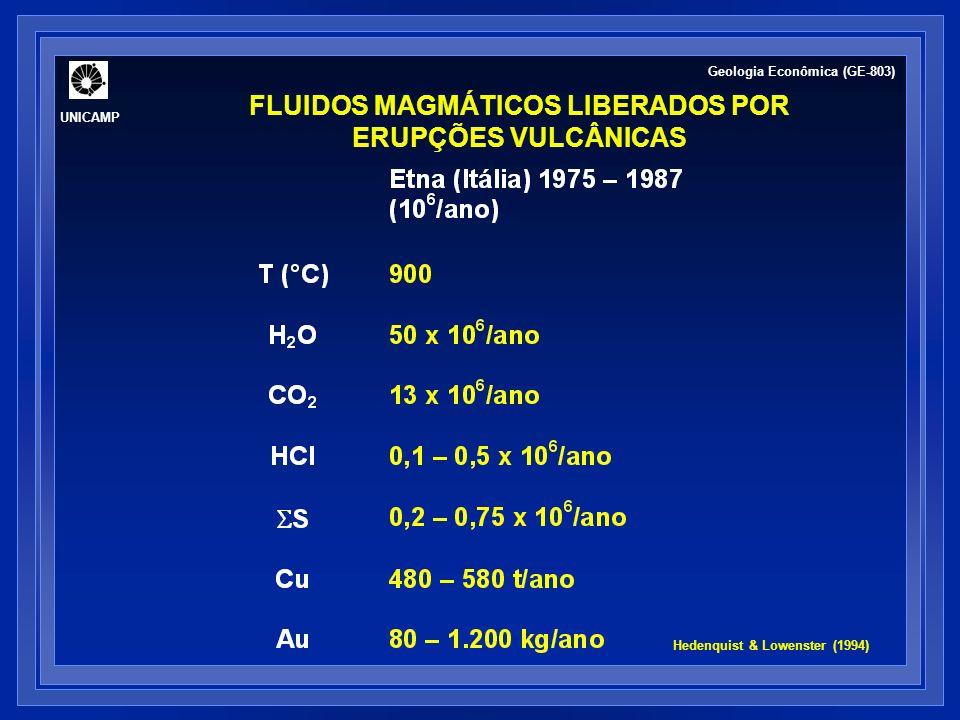FLUIDOS MAGMÁTICOS LIBERADOS POR ERUPÇÕES VULCÂNICAS