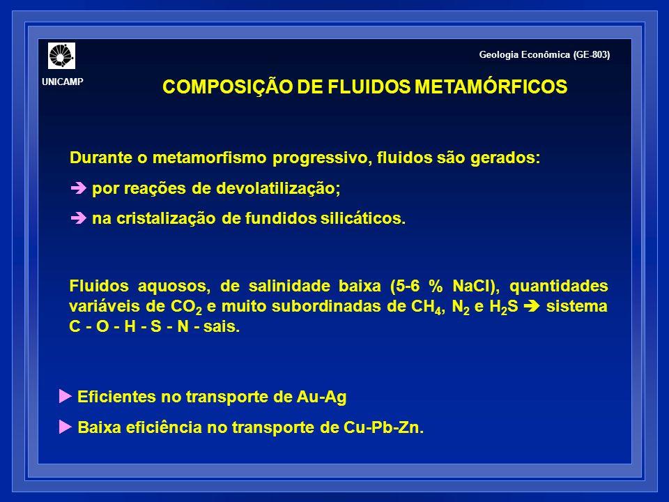 COMPOSIÇÃO DE FLUIDOS METAMÓRFICOS