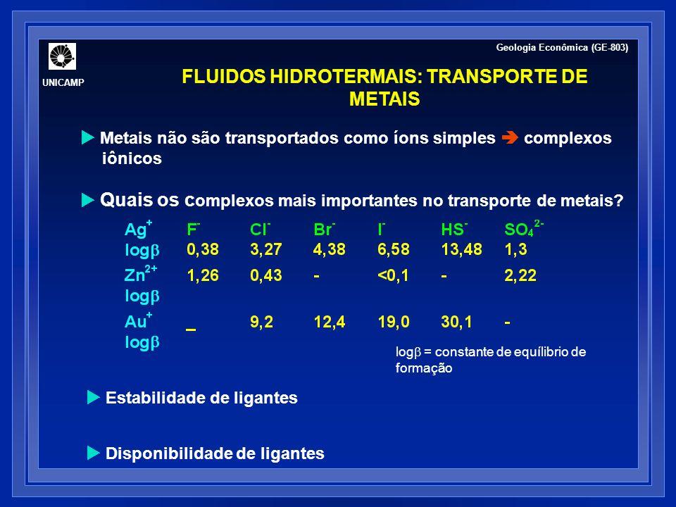 FLUIDOS HIDROTERMAIS: TRANSPORTE DE METAIS