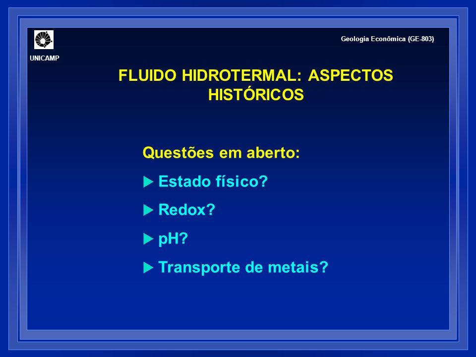 FLUIDO HIDROTERMAL: ASPECTOS HISTÓRICOS