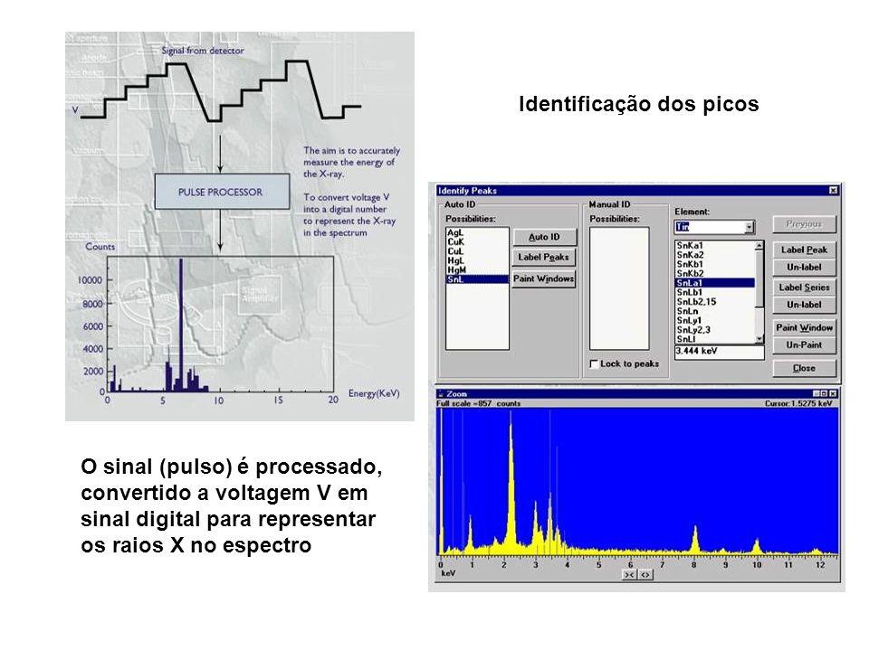 Identificação dos picos