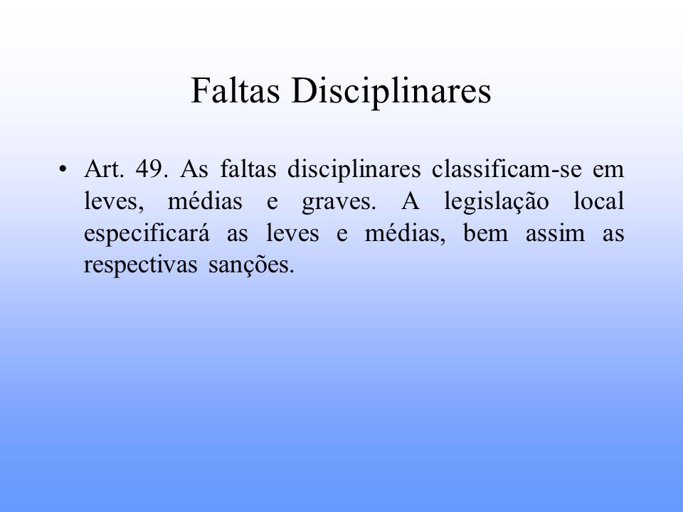 Faltas Disciplinares