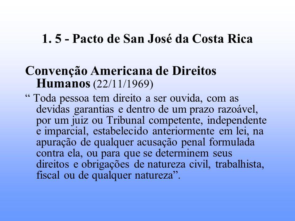 1. 5 - Pacto de San José da Costa Rica