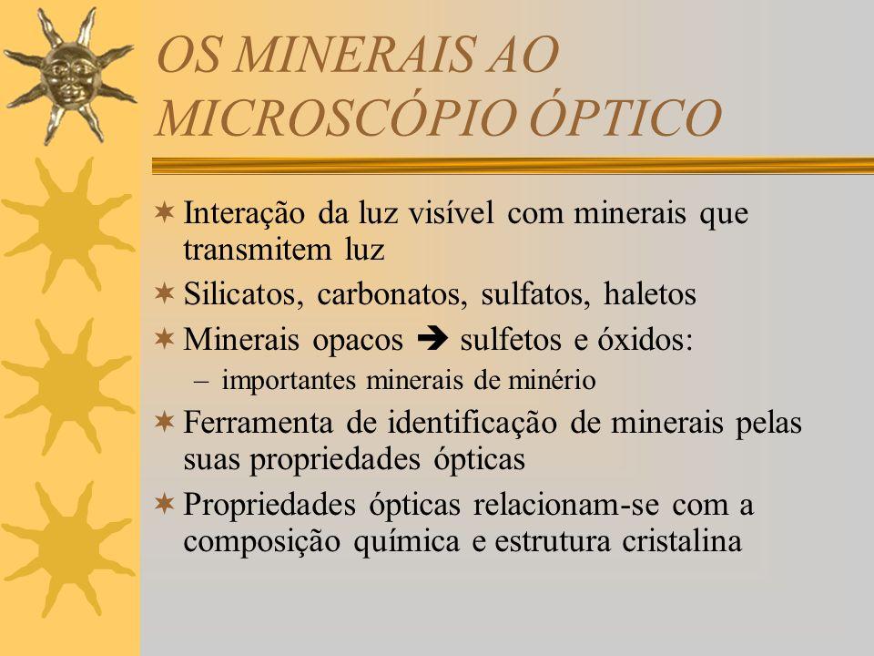 OS MINERAIS AO MICROSCÓPIO ÓPTICO
