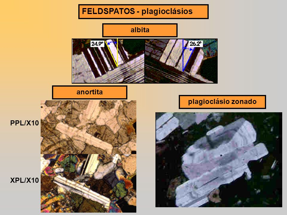 FELDSPATOS - plagioclásios