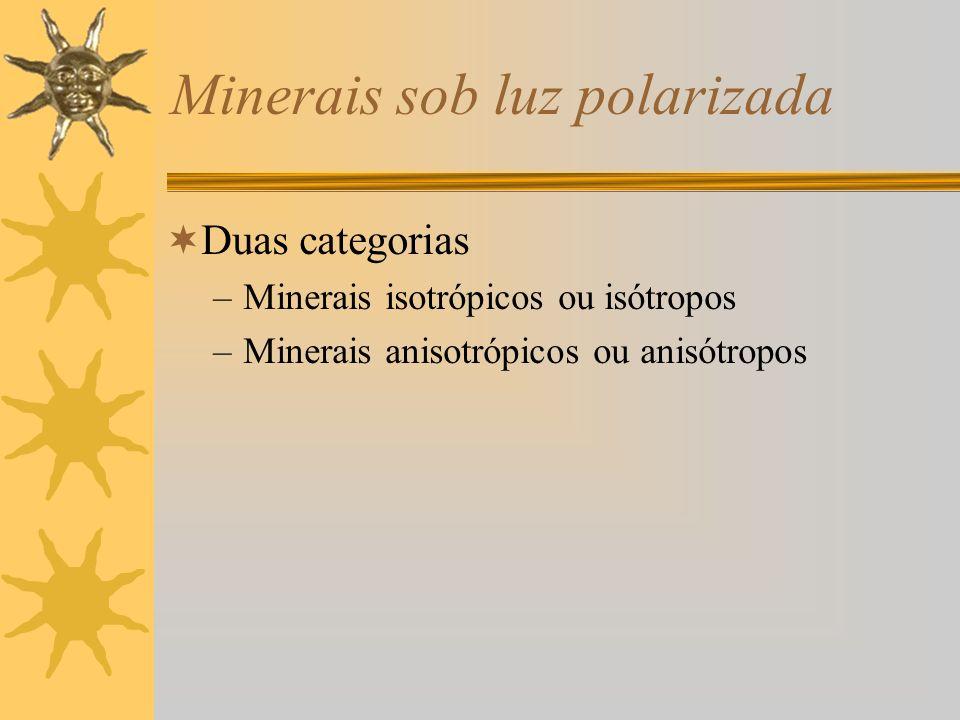 Minerais sob luz polarizada