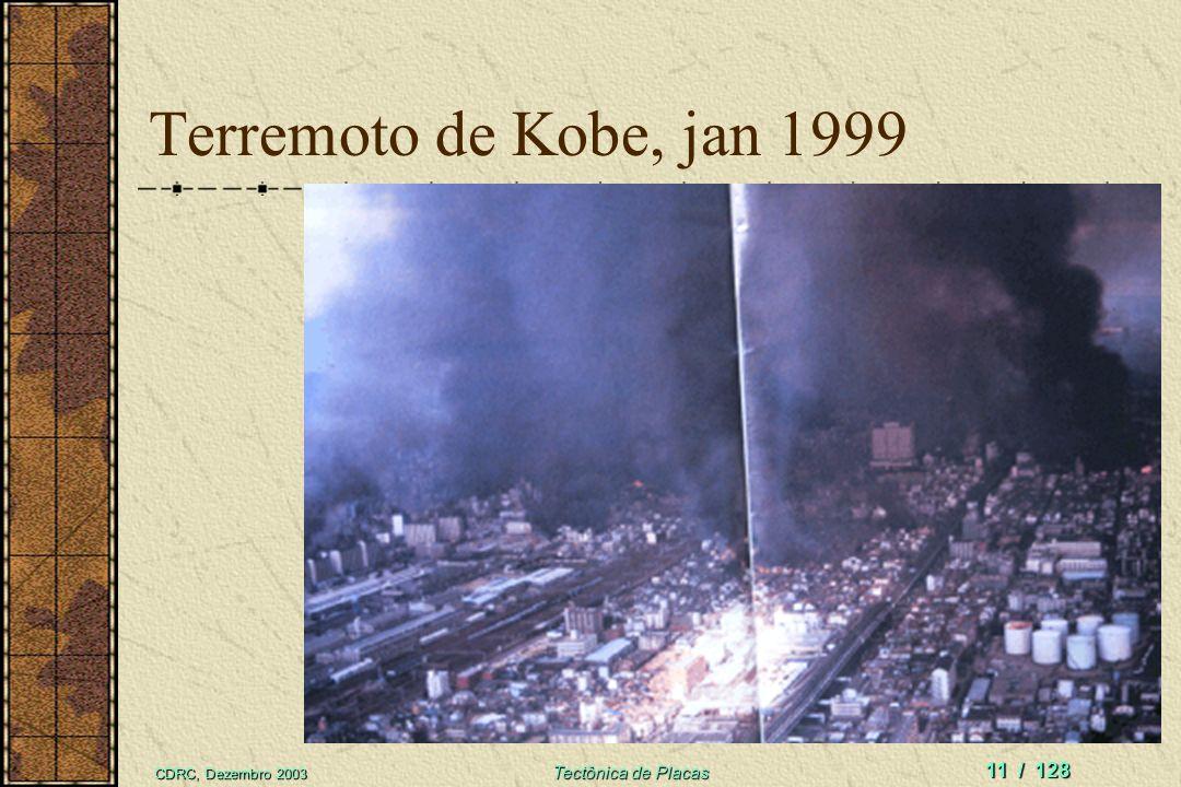 Terremoto de Kobe, jan 1999 CDRC, Dezembro 2003 Tectônica de Placas