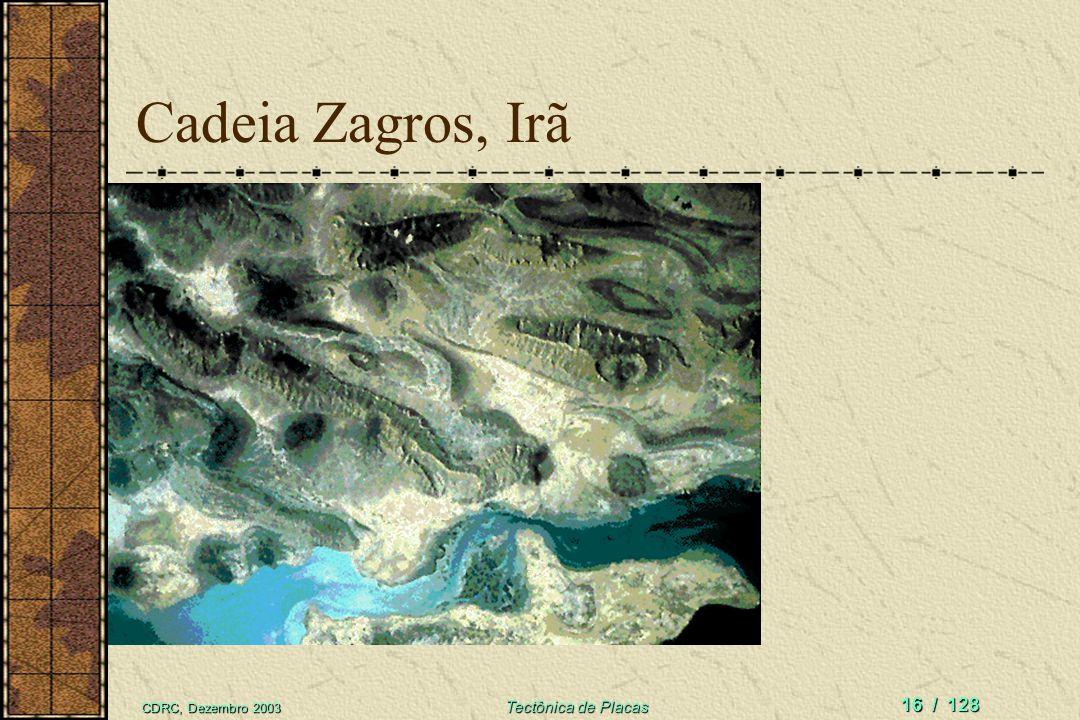 Cadeia Zagros, Irã CDRC, Dezembro 2003 Tectônica de Placas
