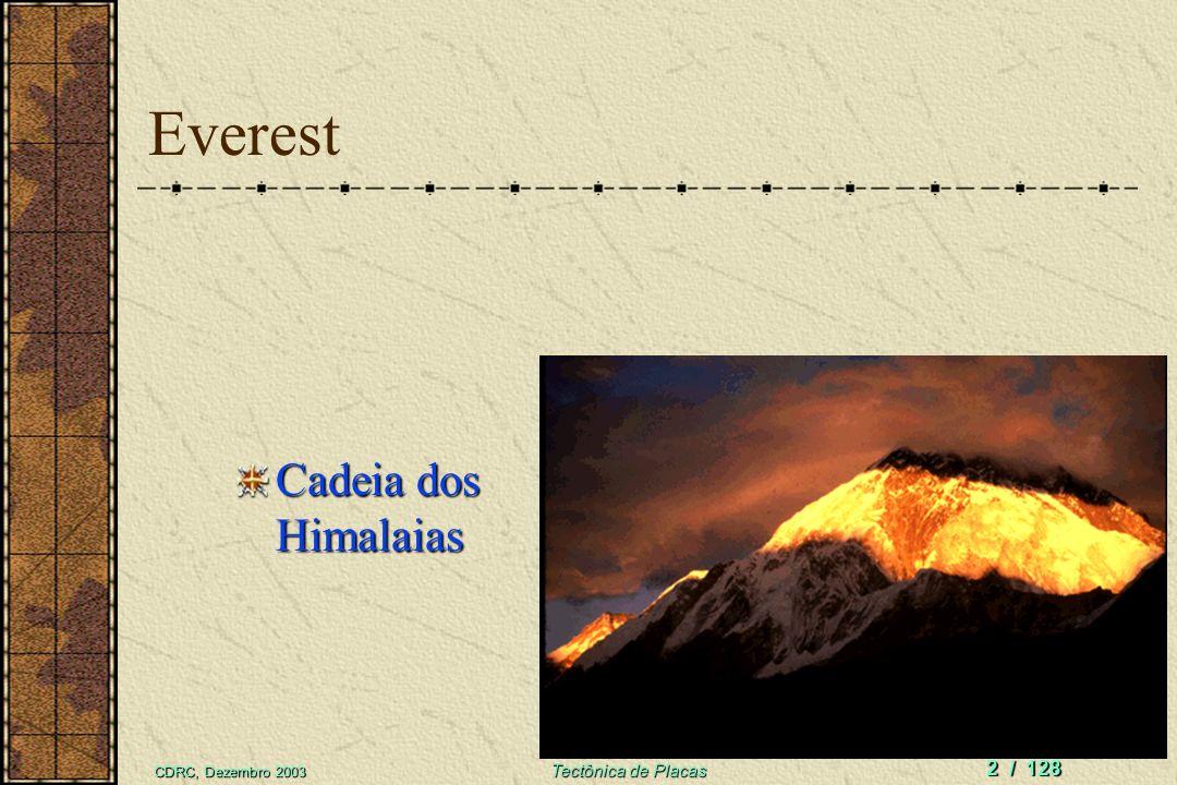 Everest Cadeia dos Himalaias CDRC, Dezembro 2003 Tectônica de Placas