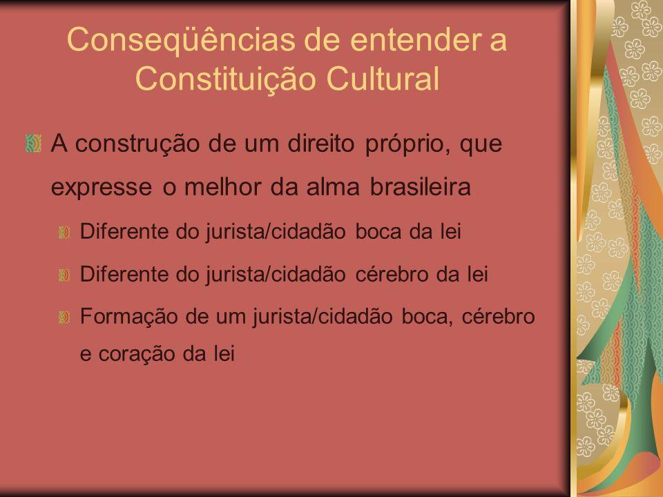 Conseqüências de entender a Constituição Cultural