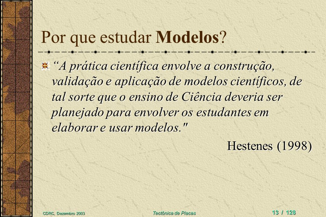 Por que estudar Modelos