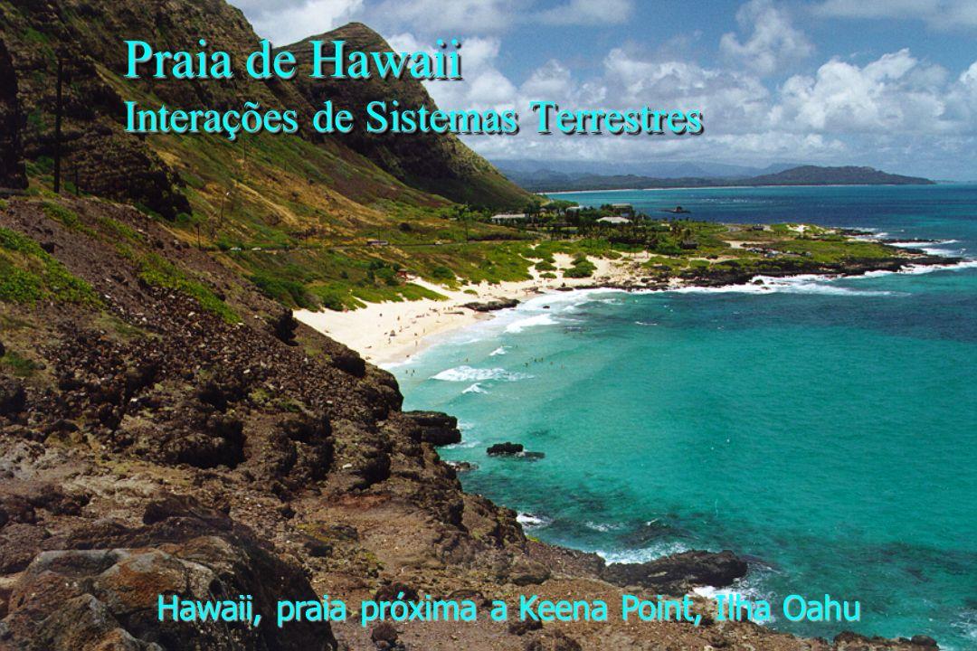 Praia de Hawaii Interações de Sistemas Terrestres
