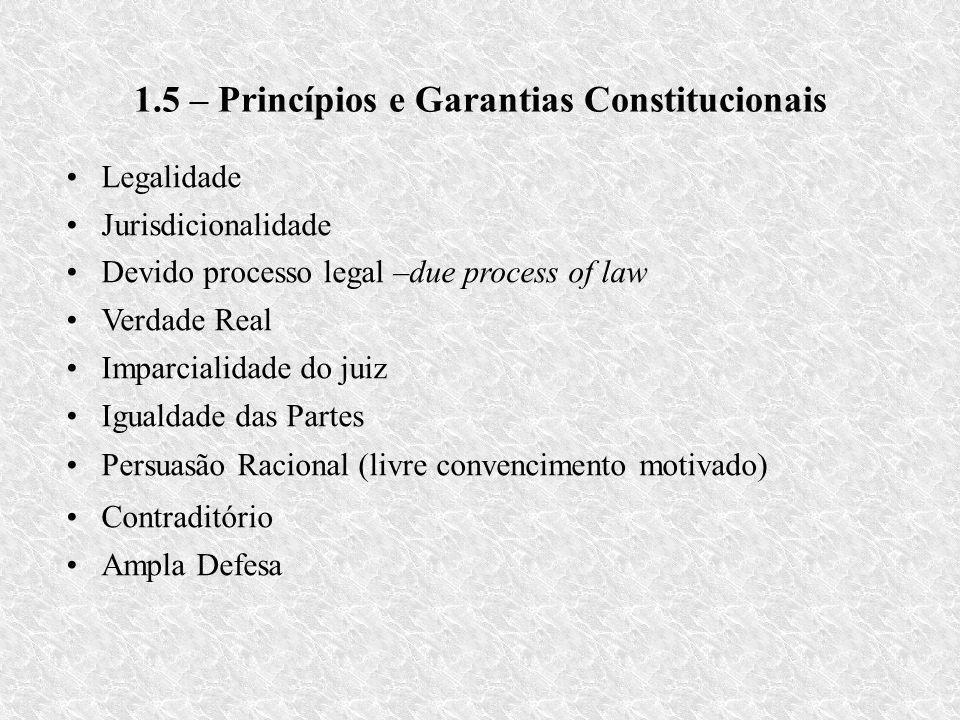 1.5 – Princípios e Garantias Constitucionais