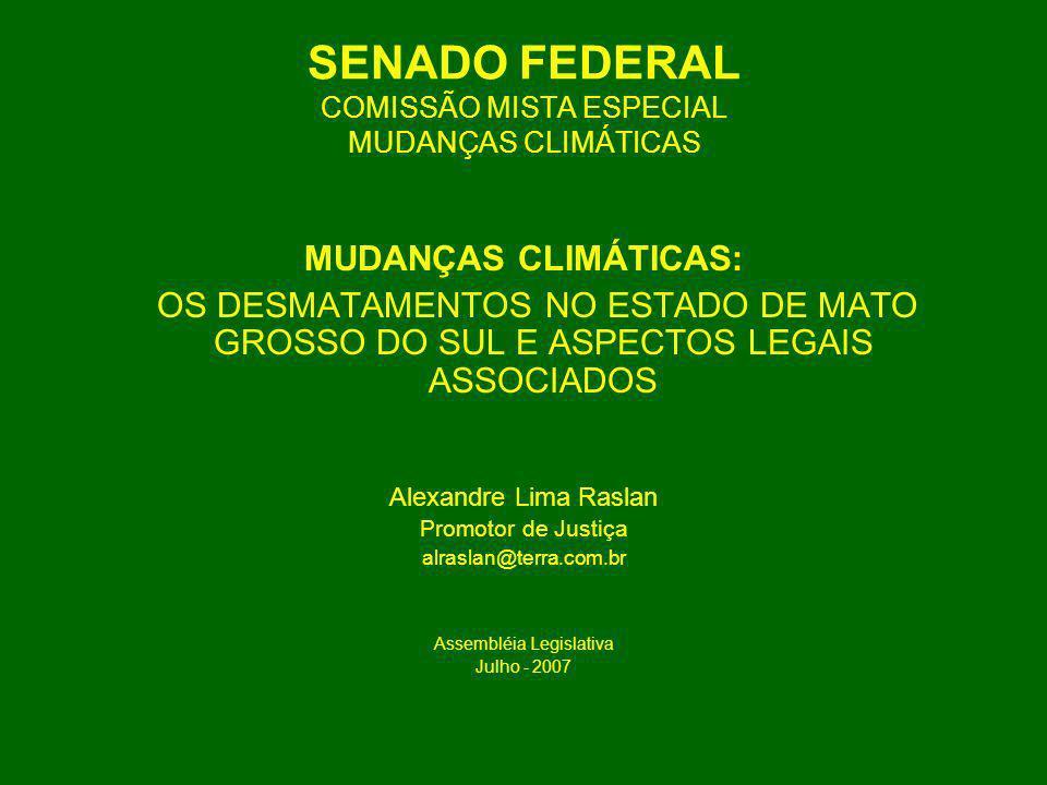 SENADO FEDERAL COMISSÃO MISTA ESPECIAL MUDANÇAS CLIMÁTICAS