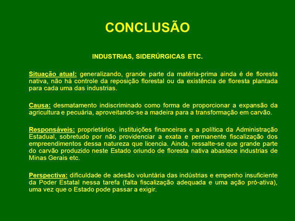 INDUSTRIAS, SIDERÚRGICAS ETC.