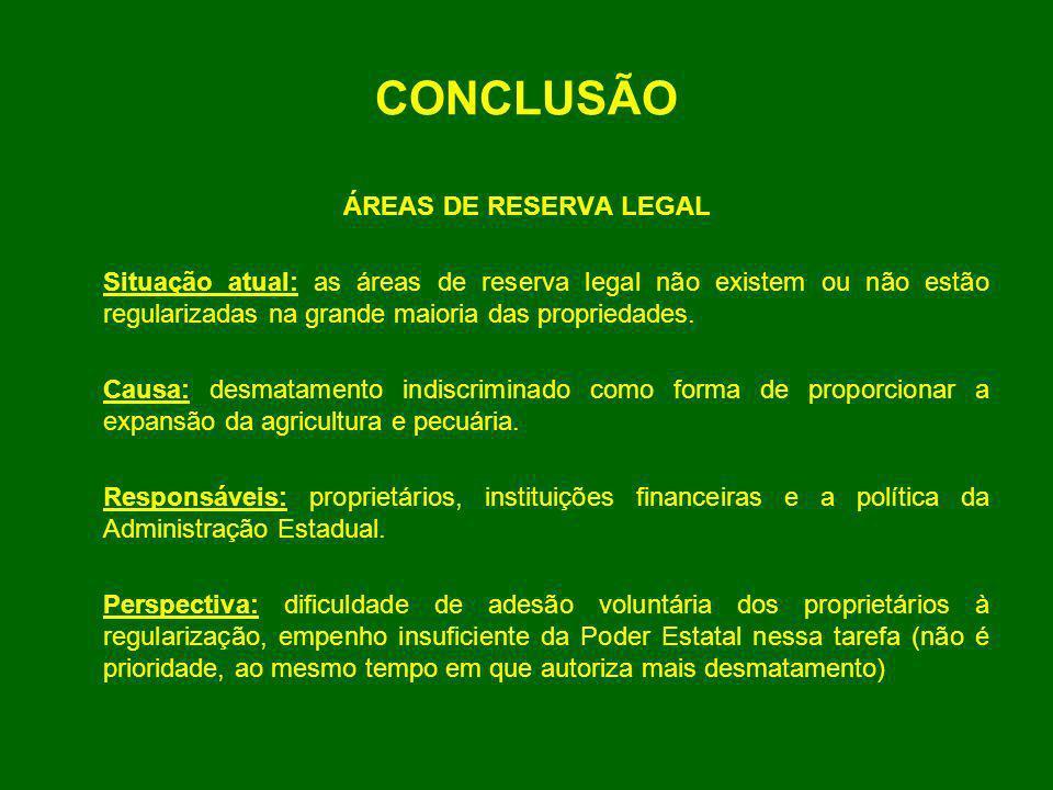 CONCLUSÃO ÁREAS DE RESERVA LEGAL