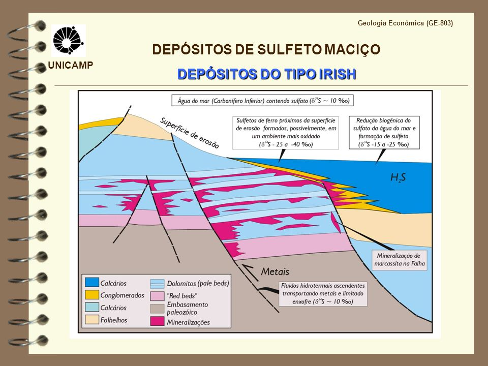 DEPÓSITOS DE SULFETO MACIÇO DEPÓSITOS DO TIPO IRISH