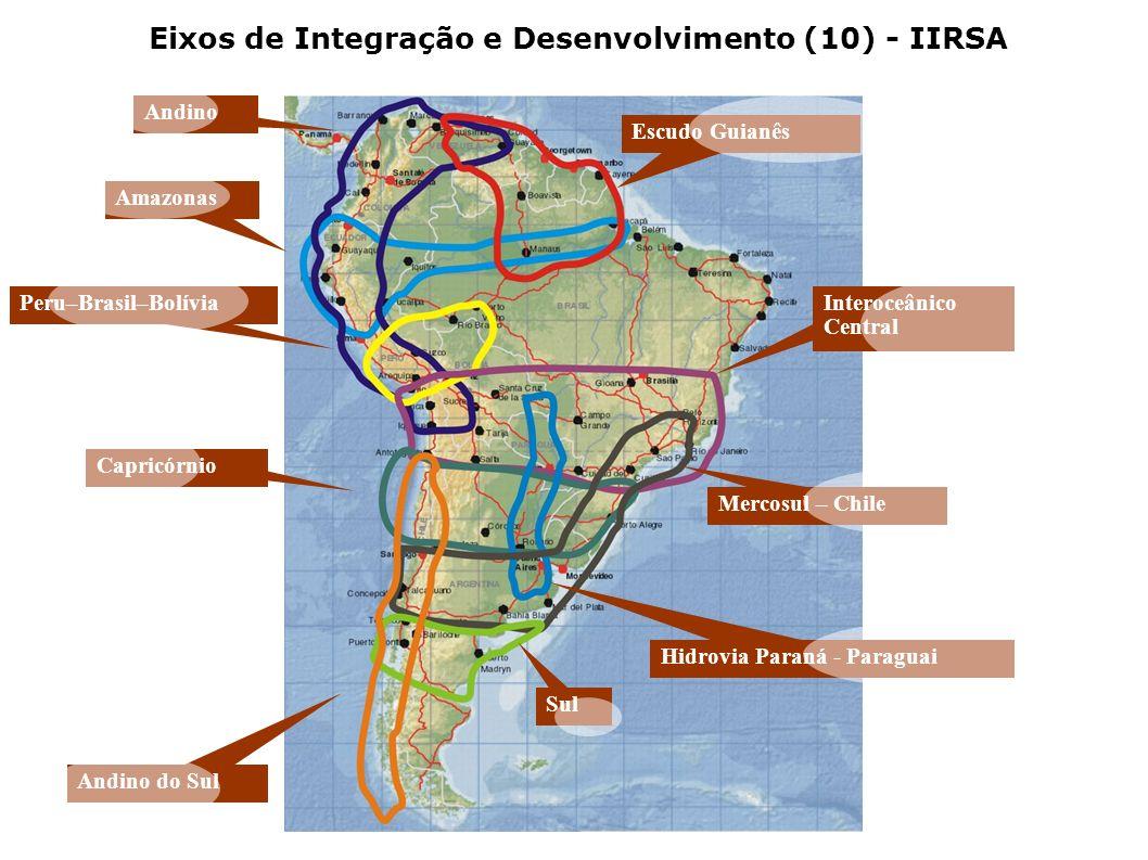 Eixos de Integração e Desenvolvimento (10) - IIRSA