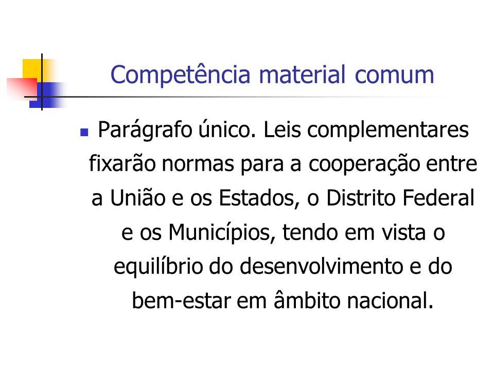 Competência material comum