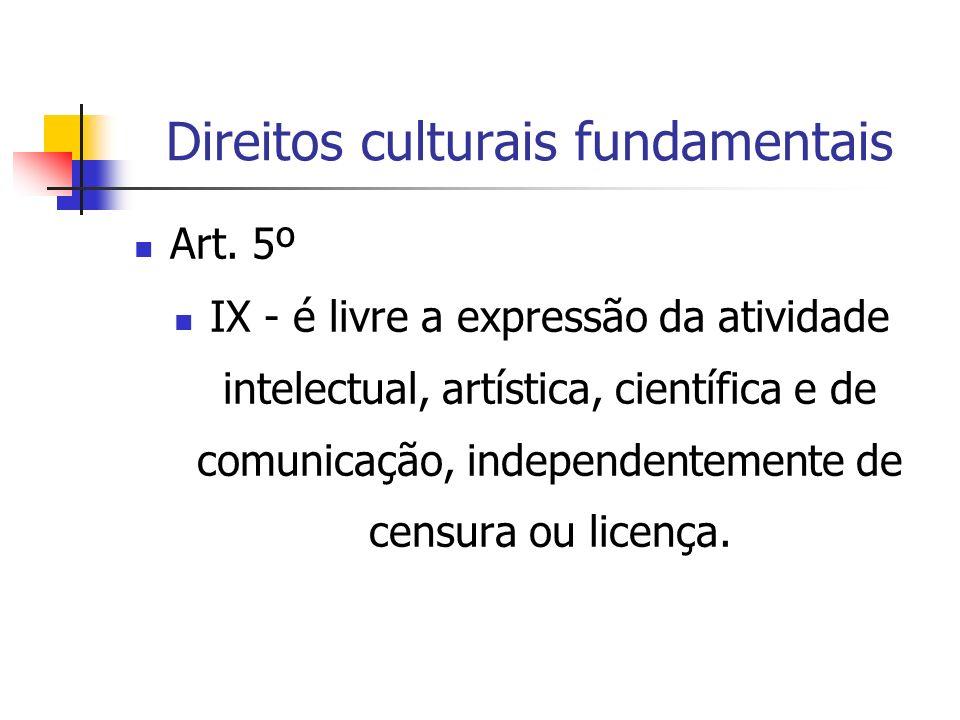 Direitos culturais fundamentais