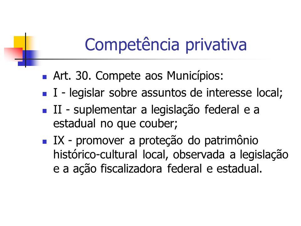 Competência privativa