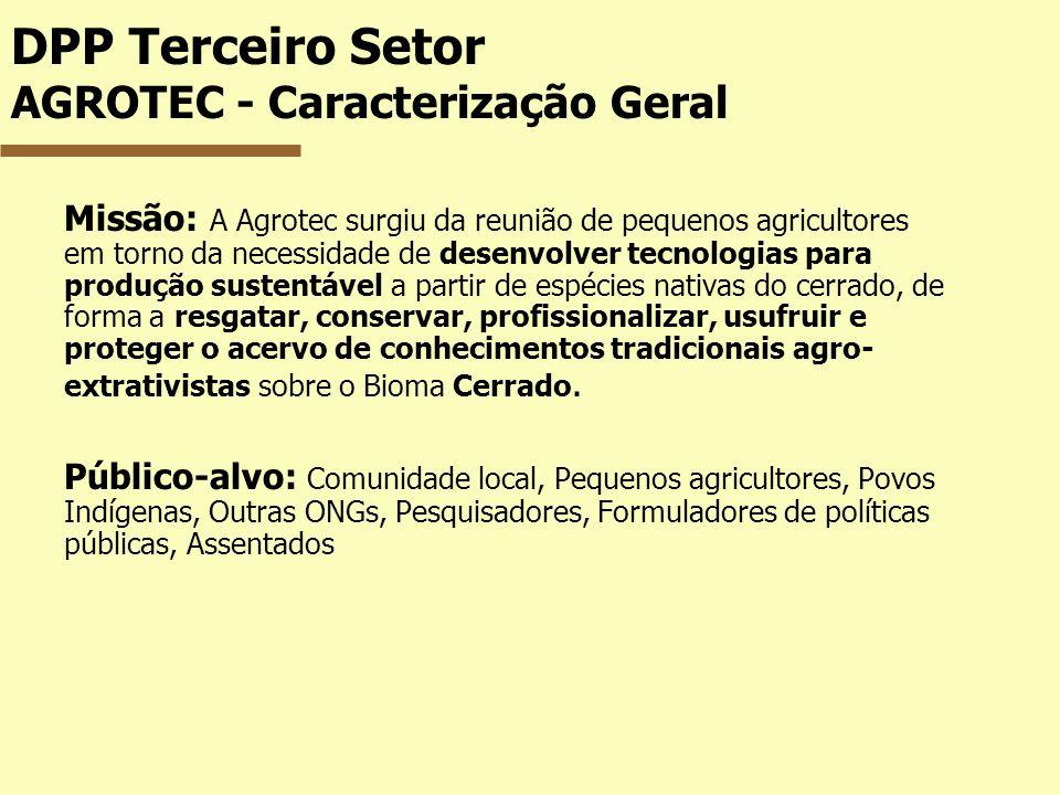 DPP Terceiro Setor AGROTEC - Caracterização Geral