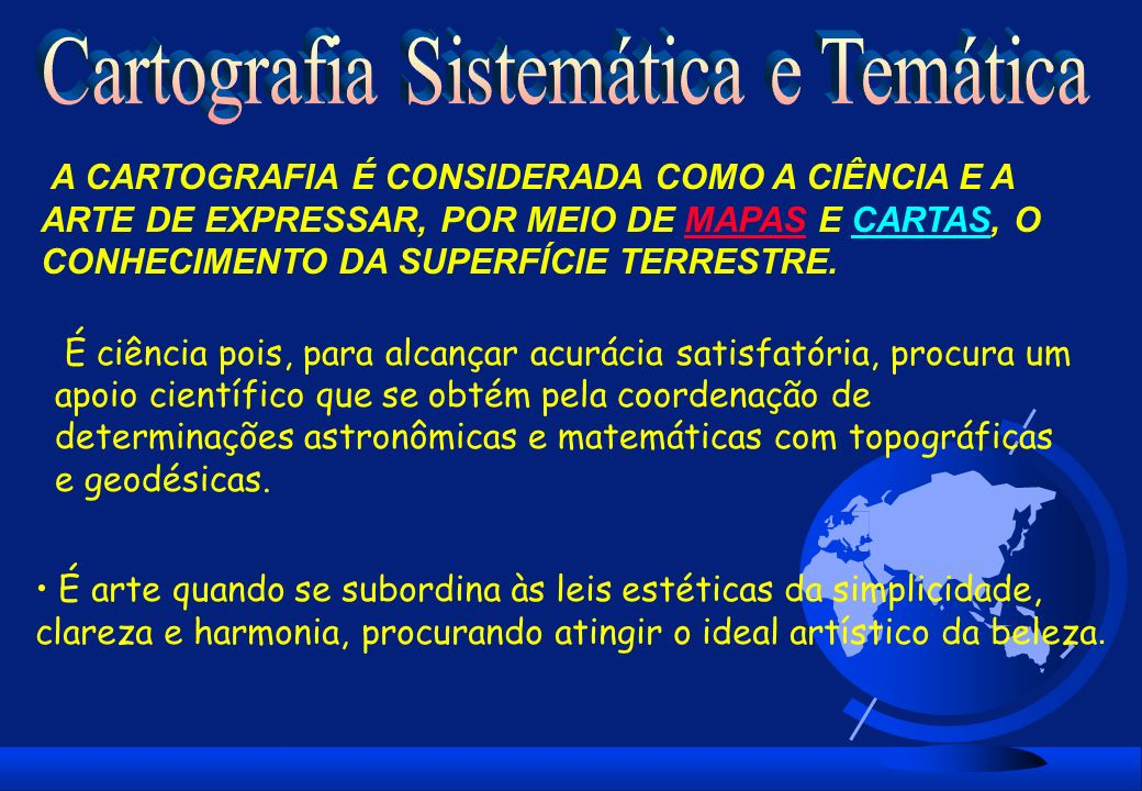 Cartografia Sistemática e Temática