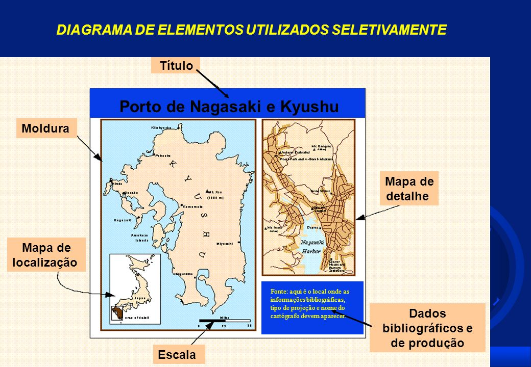 DIAGRAMA DE ELEMENTOS UTILIZADOS SELETIVAMENTE Dados bibliográficos e