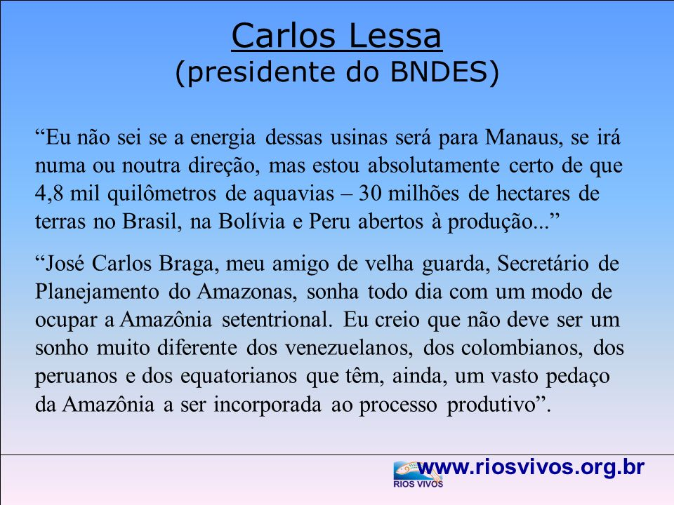 Carlos Lessa (presidente do BNDES)