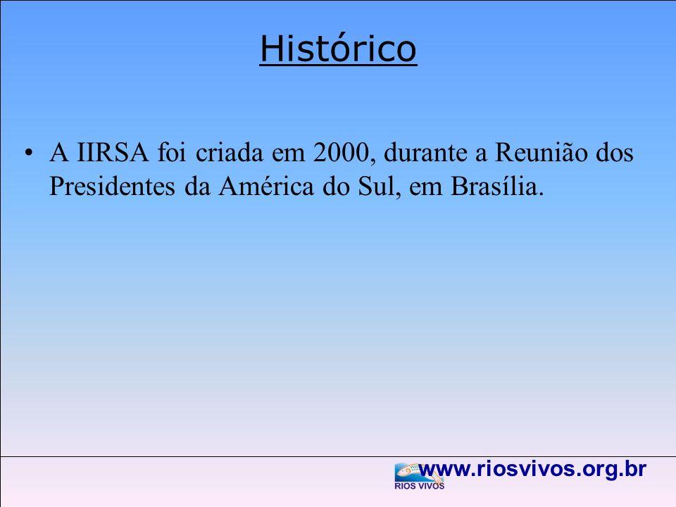 HistóricoA IIRSA foi criada em 2000, durante a Reunião dos Presidentes da América do Sul, em Brasília.