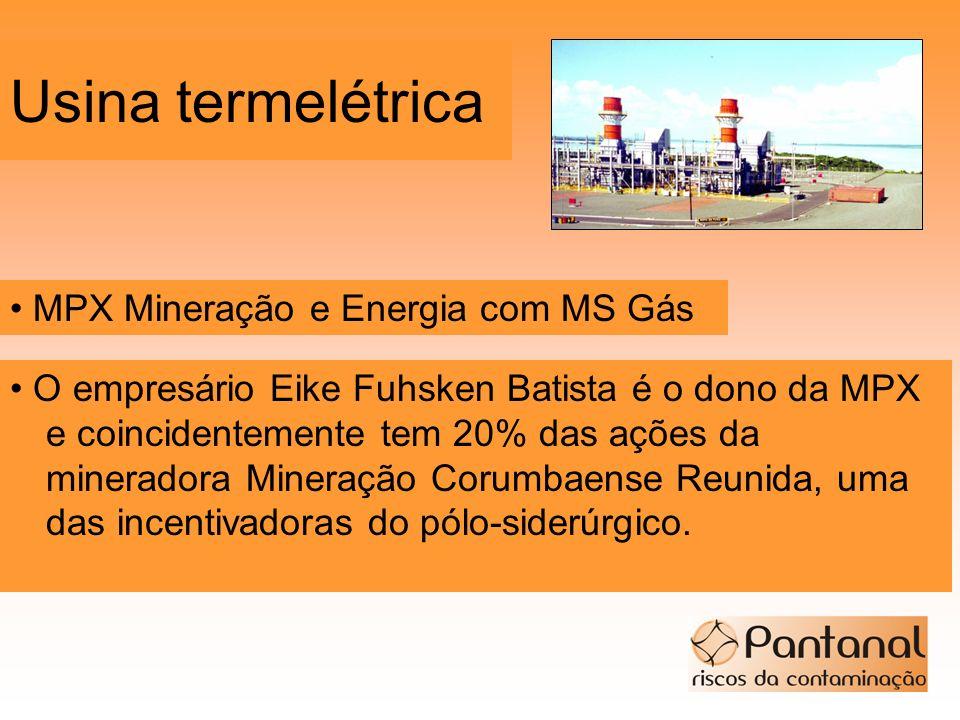 Usina termelétrica • MPX Mineração e Energia com MS Gás