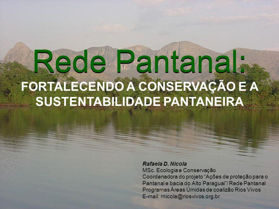 Rede Pantanal: Rede Pantanal: FORTALECENDO A CONSERVAÇÃO E A SUSTENTABILIDADE PANTANEIRA. Rafaela D. Nicola.