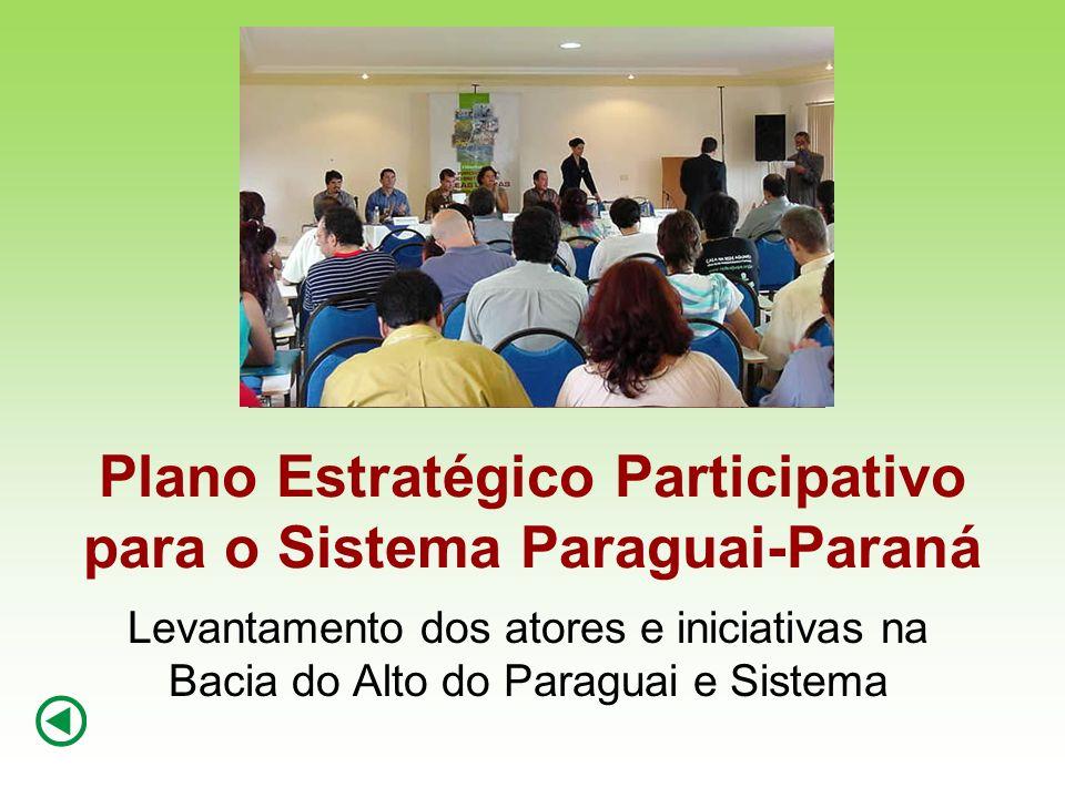 Plano Estratégico Participativo para o Sistema Paraguai-Paraná