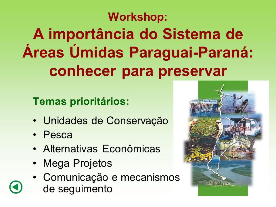Workshop: A importância do Sistema de Áreas Úmidas Paraguai-Paraná: conhecer para preservar