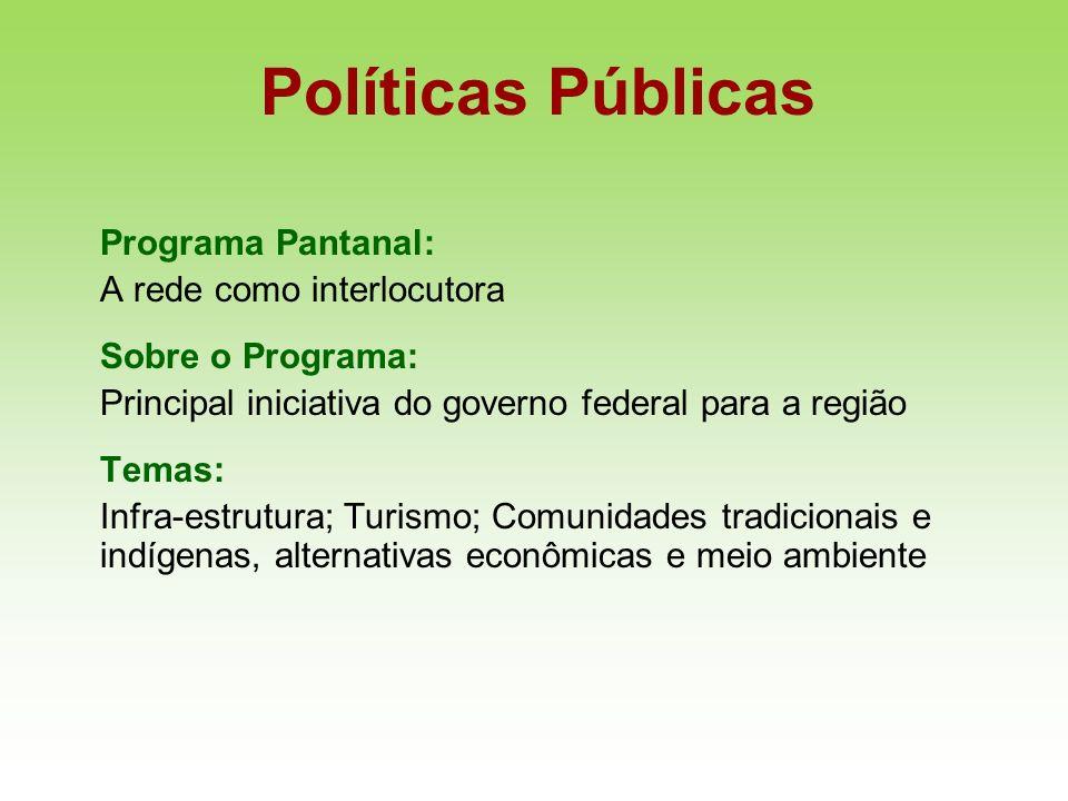 Políticas Públicas Programa Pantanal: A rede como interlocutora