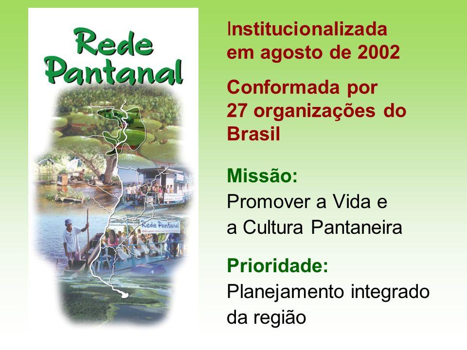 Institucionalizada em agosto de 2002 Conformada por 27 organizações do Brasil