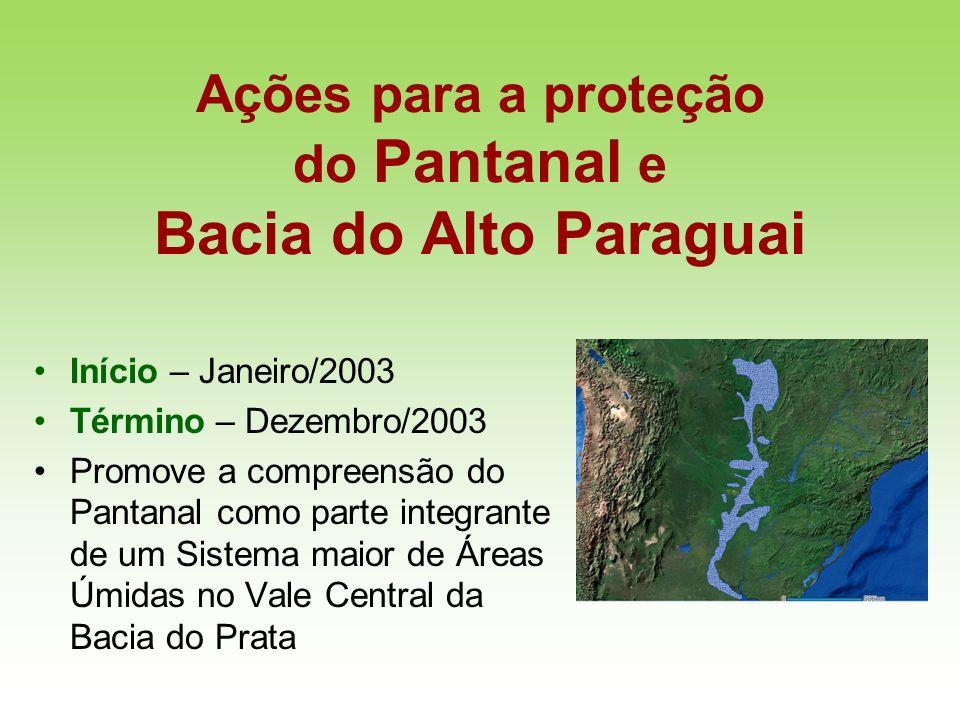 Ações para a proteção do Pantanal e Bacia do Alto Paraguai