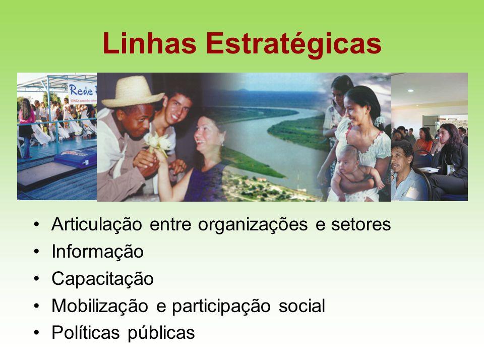 Linhas Estratégicas Articulação entre organizações e setores