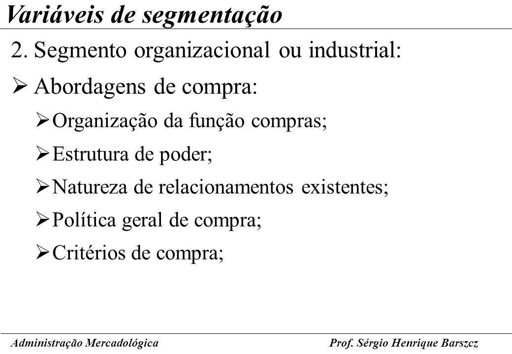 Variáveis de segmentação