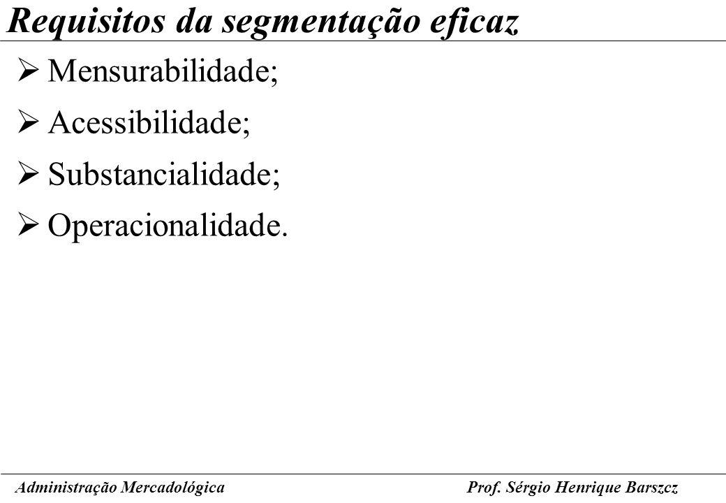 Requisitos da segmentação eficaz