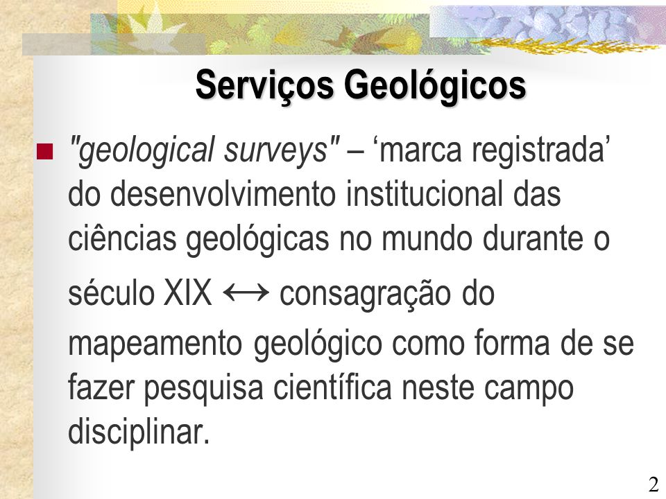 Serviços Geológicos