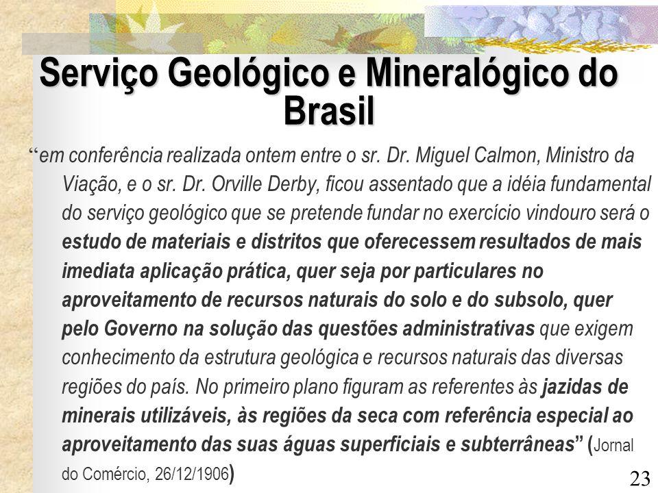 Serviço Geológico e Mineralógico do Brasil
